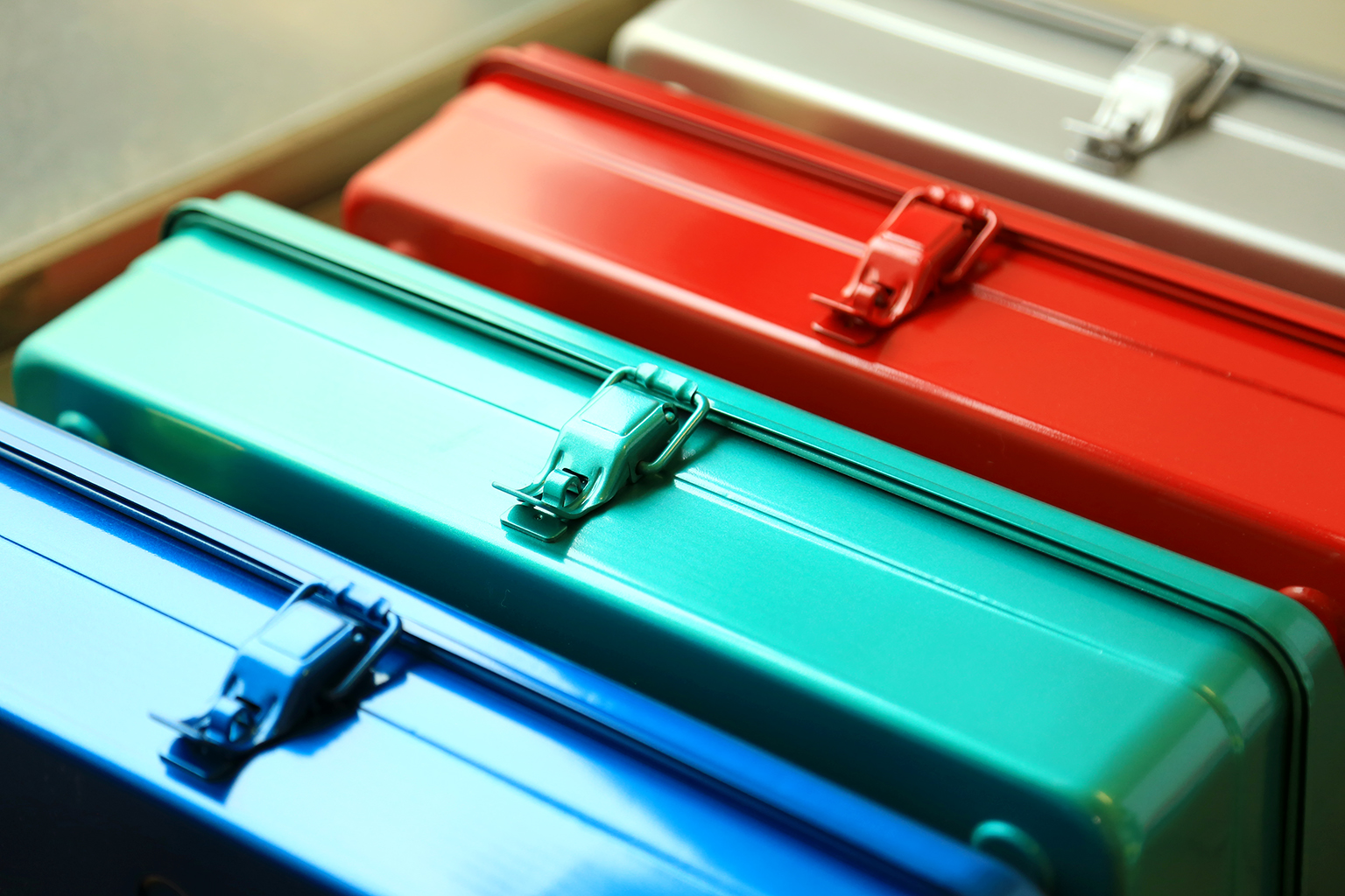 TRUSCO職人烤漆工具箱-四種顏色
