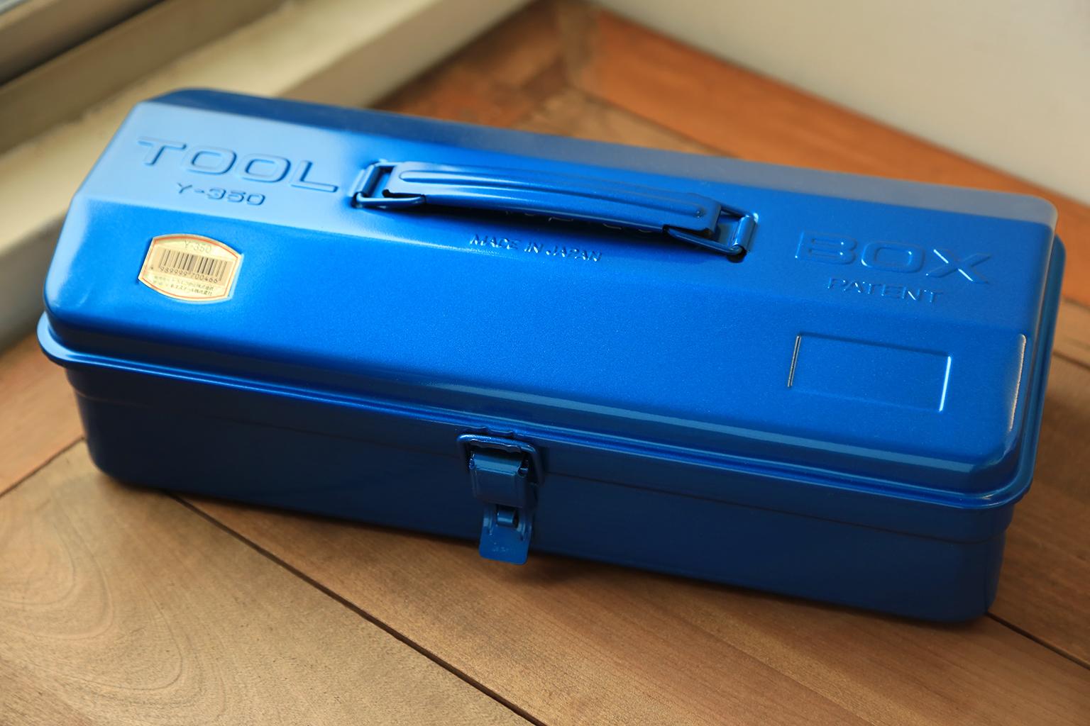 TRUSCO職人烤漆工具箱-寶藍色