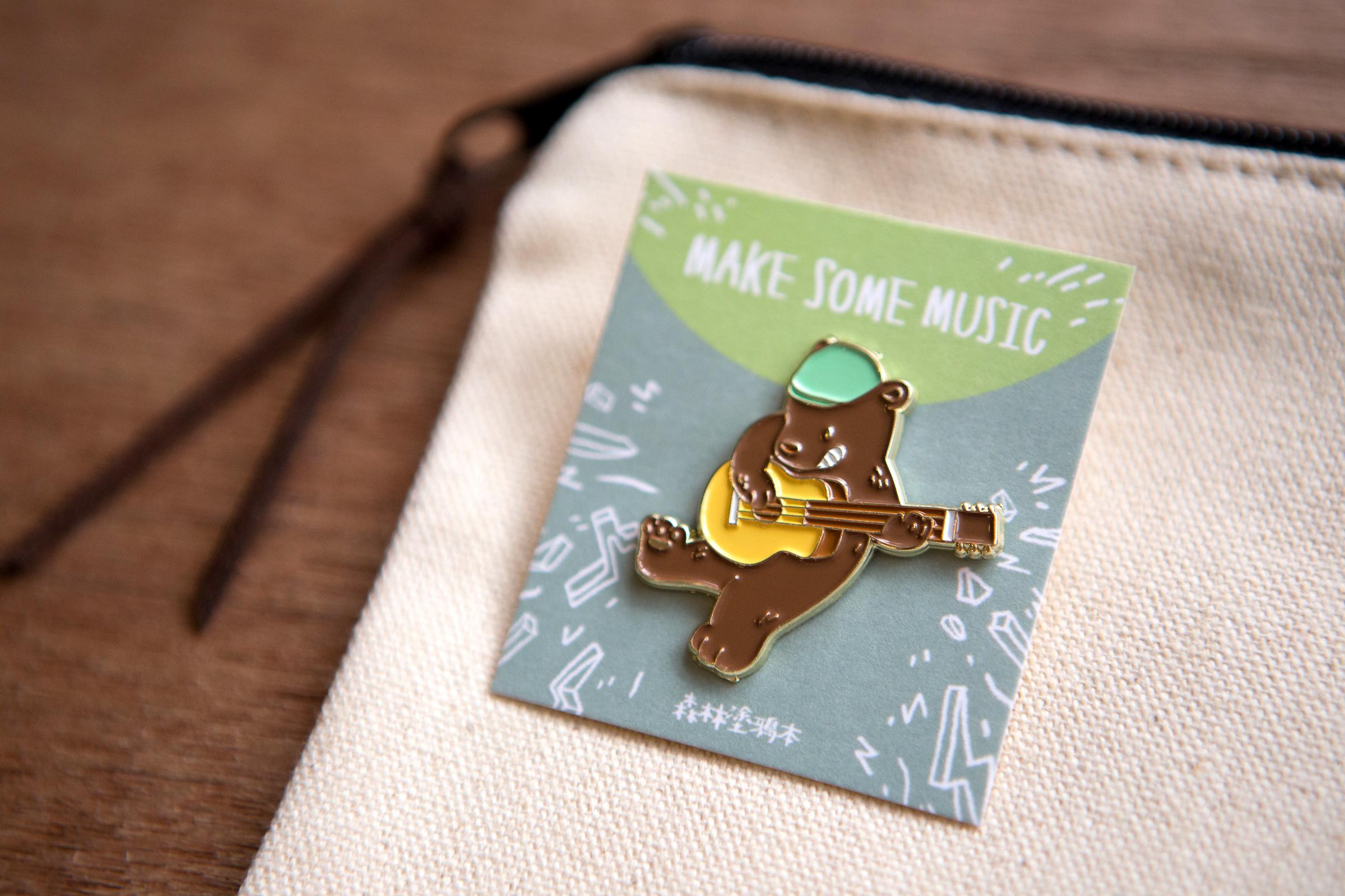 OURS 森林熊樂團徽章 吉他